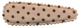Haarkniphoesje zand met donker bruine stip 5 cm (ca. 100 stuks)