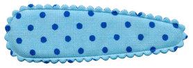 Haarkniphoesje licht blauw met blauwe stip 5 cm (ca. 100 stuks)