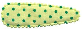 Haarkniphoesje licht groen met groene stip 5 cm (ca. 100 stuks)