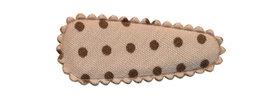 Haarkniphoesje zand met donker bruine stip 3 cm (ca. 100 stuks)