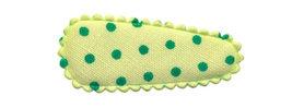 Haarkniphoesje licht groen met groene stip 3 cm (ca. 100 stuks)