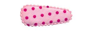 Haarkniphoesje roze met fuchsia stip 3 cm (ca. 100 stuks)