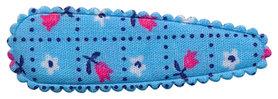 Haarkniphoesje blauw met tulpjes 5 cm (ca. 100 stuks)