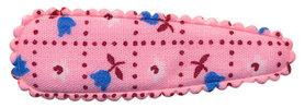 Haarkniphoesje roze met tulpjes 5 cm (ca. 100 stuks)