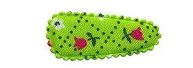 Haarkniphoesje groen met tulpjes 3 cm (ca. 100 stuks)