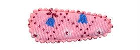 Haarkniphoesje roze met tulpjes 3 cm (ca. 100 stuks)