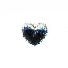 Applicatie hart zilver klein 20 x 20 mm (ca. 100 stuks)
