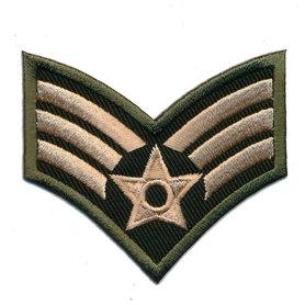 Opstrijkbare applicatie army wing met ster (5 stuks)