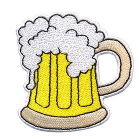 Opstrijkbare applicatie bierpul (5 stuks)