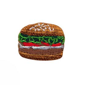 Opstrijkbare applicatie hamburger (5 stuks)