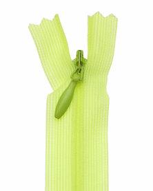Blinde rits NEON geel/groen #224 22,5 cm (5 stuks)