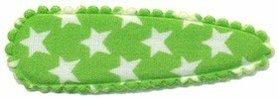 Haarkniphoesje groen met witte sterren 5 cm (ca. 100 stuks)