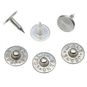 Jeans spijker zilverkleurig staal 10 mm #802 (ca. 500 sets)