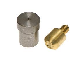 Magnetische stempelset voor 5 mm holnieten met enkele kop t.b.v. handpers