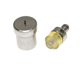 Stempelset voor 5 mm holnieten met enkele kop t.b.v. handpers