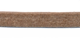 Taupe fluweelband 13 mm (ca. 32 m)