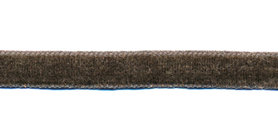 Antraciet fluweelband 9 mm (ca. 32 m)