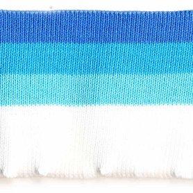 Boord donker blauw-blauw-licht blauw-wit gestreept ca. 70 cm (6 stuks)