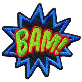 Opstrijkbare applicatie 'BAM!' (5 stuks)