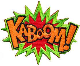 Opstrijkbare applicatie 'KABOOM!' (5 stuks)