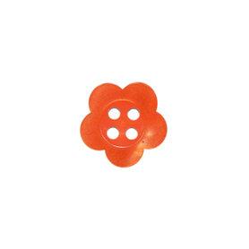 Bloemknoop oranje met 4 gaten 12 mm (ca. 100 stuks)