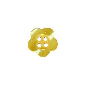 Bloemknoop geel met 4 gaten 12 mm (ca. 100 stuks)