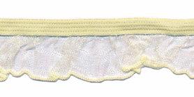 Zacht geel/vanille roezel elastiek 19 mm (ca. 10 meter)