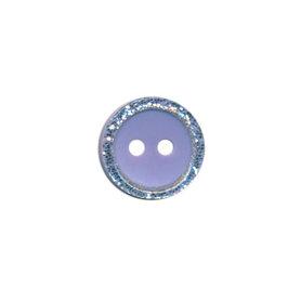 Knoop met glitter rand lila 11 mm (ca. 100 stuks)