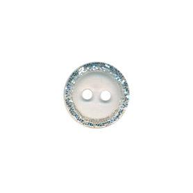Knoop met glitter rand doorzichtig 11 mm (ca. 100 stuks)