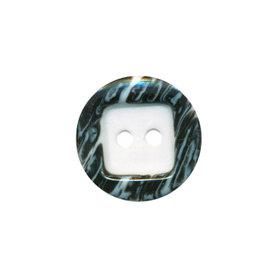 Knoop wit met opstaande rand gestreept wit/zwart 15 mm (ca. 50 stuks)