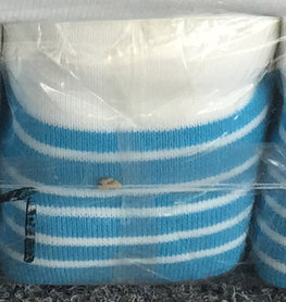 Boord blauw-wit gestreept ca. 55 cm (6 stuks)