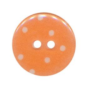 Knoop oranje met witte stippen 25 mm (ca. 25 stuks)
