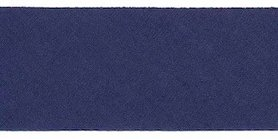 Donker blauw #12 ongevouwen biaisband 30 mm (ca. 10 meter)