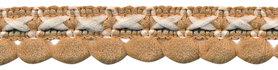 2-kleurig lusjesband zand-creme 15 mm (ca. 16 meter)
