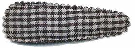 Haarknip met haarkniphoesje zwart-wit geruit 5 cm (ca. 100 stuks)