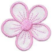 Applicatie bloem wit/licht roze (ca. 10 stuks)