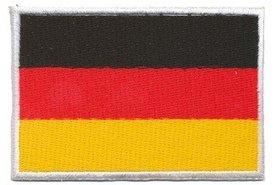 Opstrijkbare applicatie Duitse vlag (5 stuks)