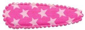 Haarkniphoesje roze met witte sterren 5 cm (ca. 100 stuks)
