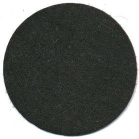 Vilten schijfje zwart ca. 50 mm (ca. 100 stuks)