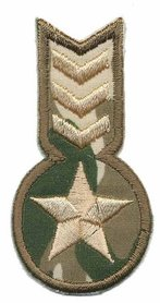 Opstrijkbare applicatie leger/army ster en strepen (5 stuks)