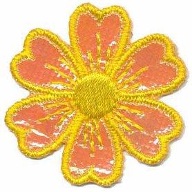 Applicatie glim bloem geel 40 mm (10 stuks)