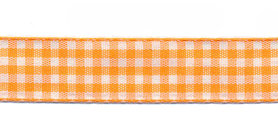 Ruit band oranje-wit 15 mm (ca. 45 m)