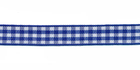 Ruit band kobalt blauw-wit 10 mm (ca. 45 m)