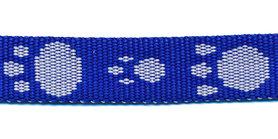 Tassenband 15 mm pootje kobalt blauw/wit (ca. 5 m)