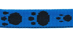 Tassenband 15 mm pootje blauw/zwart (ca. 5 m)