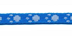Tassenband 10 mm pootje blauw/wit (ca. 5 m)