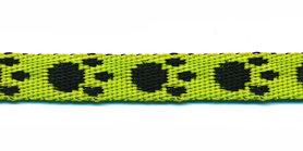 Tassenband 10 mm pootje felgroen/zwart (ca. 5 m)