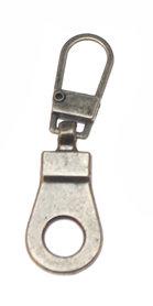 Hersluitbare ritstrekker oud zilverkleurig (25 stuks)