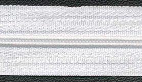 Nylon rits wit #501 maat 3 (ca. 5 m)