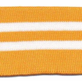 Boord oranje-wit gestreept ca. 60 cm (6 stuks)